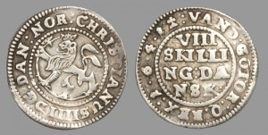 Fig 2. Christian IV, 8 skilling